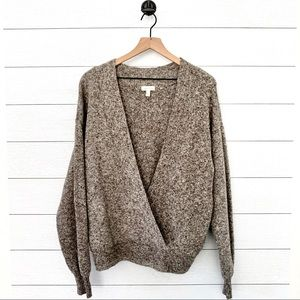 Silence + Noise deep vneck oversized sweater